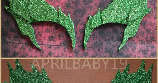 Poison Ivy Eyebrow Template Poison Ivy Leaves Eyebrow Eye Mask Emerald Glitter Green
