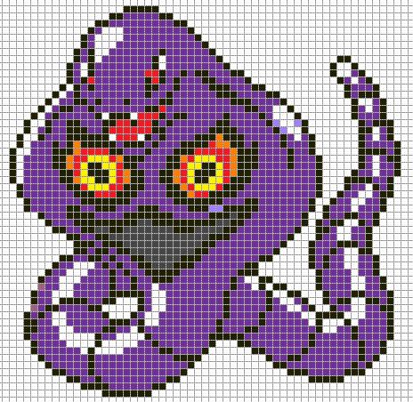 Pokemon Pixel Art Grid Arbok by Hama Girl On Deviantart