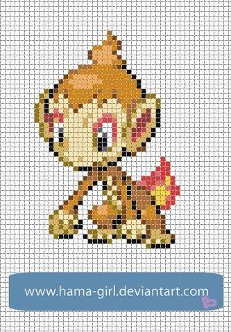 Pokemon Pixel Art Grid Chimchar Pokemon Sprite Grid Sprite Grids