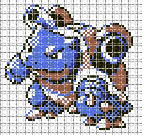 Pokemon Pixel Art Grid Sandylandya Outlook Blastoise by Hama Girl On