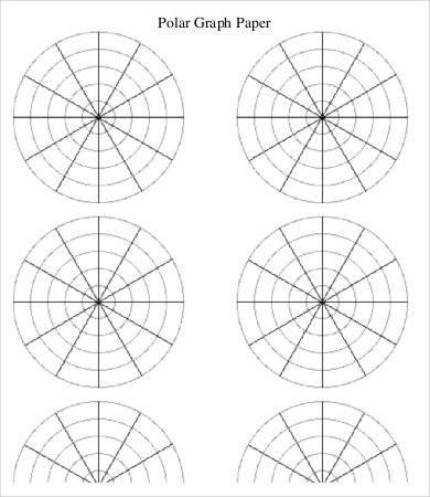 Polar Coordinate Graph Paper 6 Polar Graph Paper Templates Pdf