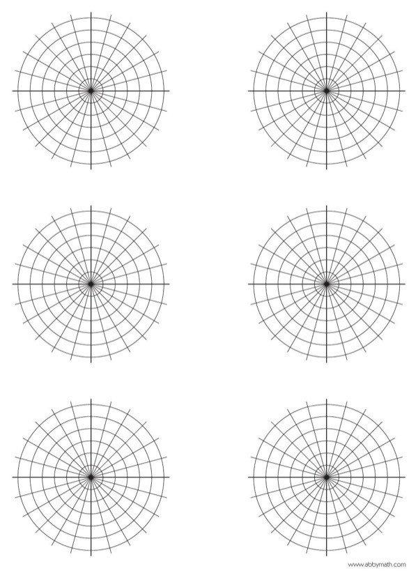 Polar Coordinate Graph Paper Download Polar Graph Paper for Free