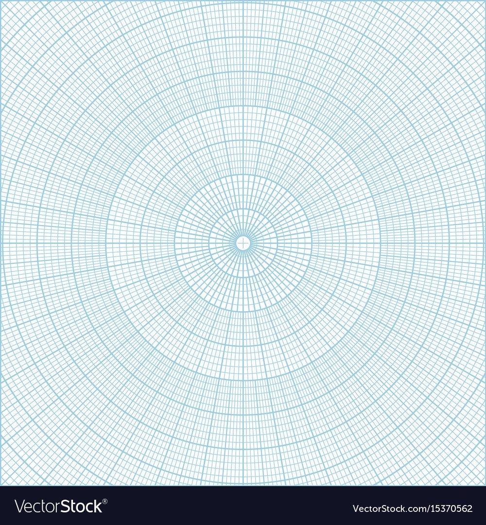 Polar Coordinate Graph Paper Polar Coordinate Circular Grid Graph Paper Vector Image
