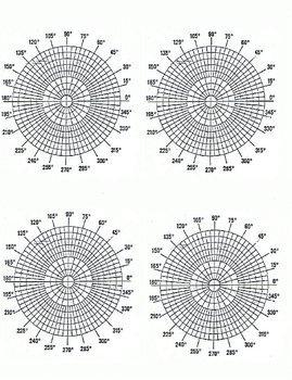 Polar Coordinate Graph Paper Polar Coordinate Graph Paper by Martha Candler