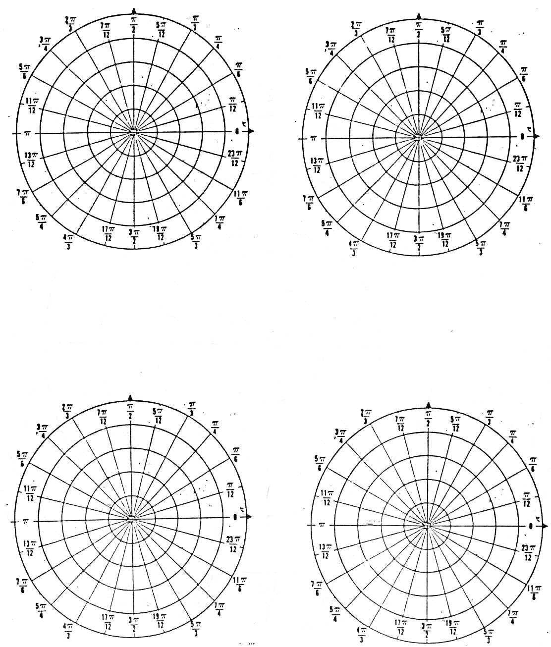 Polar Coordinate Graph Paper Polar Radians 4