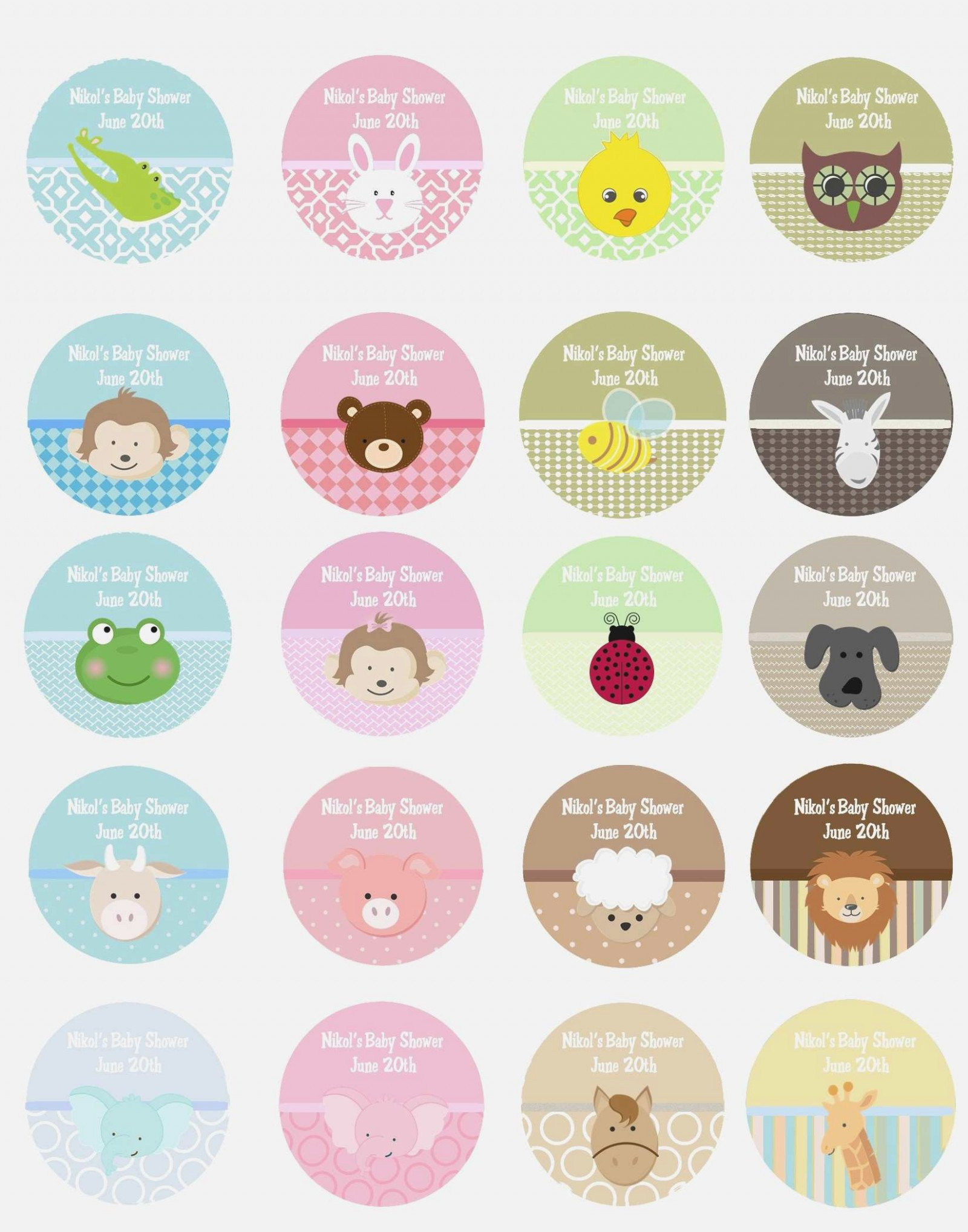 Polaroid Round Labels Template Understand the Background