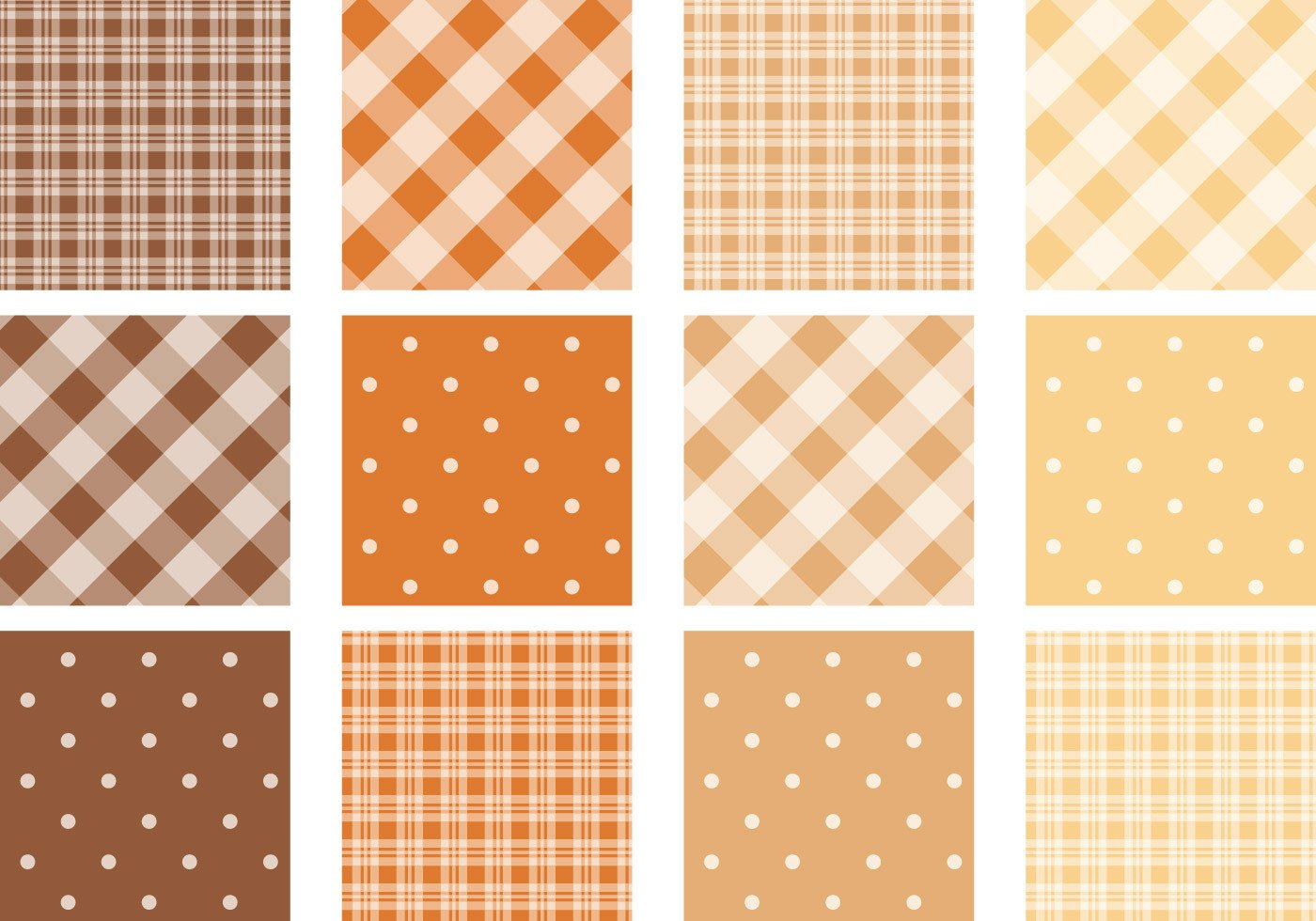 Polka Dot Brush Photoshop Fall Colored Plaid and Polka Dot Pattern Pack Free