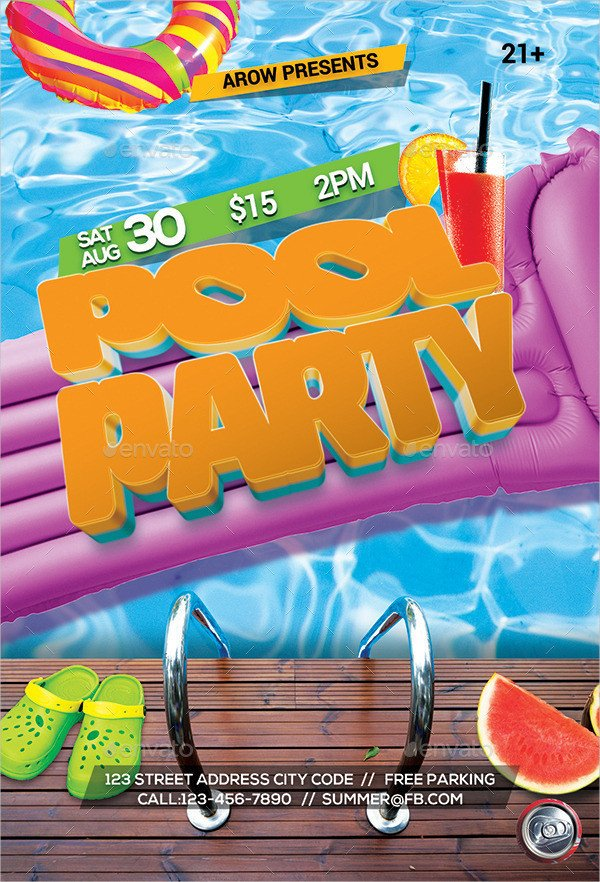 Pool Party Flyer Template 33 Printable Pool Party Invitations Psd Ai Eps Word
