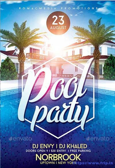 Pool Party Flyer Template 50 Best Summer Pool Party Flyer Print Templates 2019
