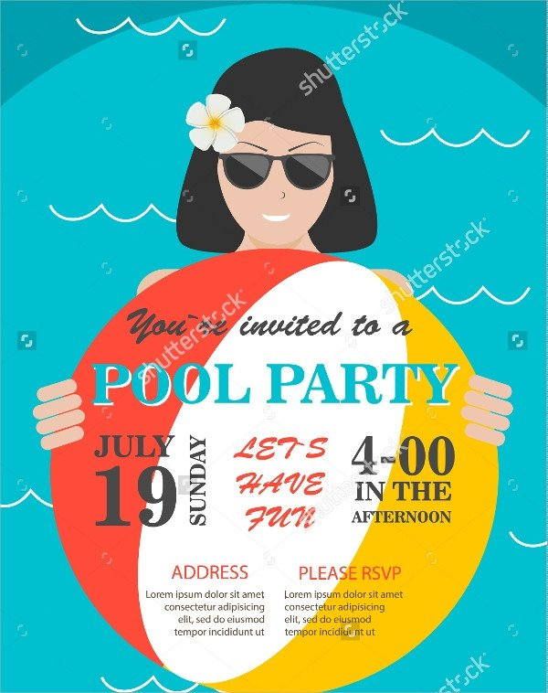 Pool Party Flyer Template Free 18 Pool Party Flyer Templates Psd Free Eps format
