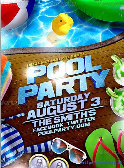 Pool Party Flyer Template Free 50 Best Summer Pool Party Flyer Print Templates 2019