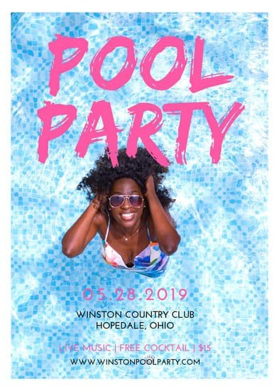 Pool Party Flyer Template Free Customize 170 Party Flyer Templates Online Canva