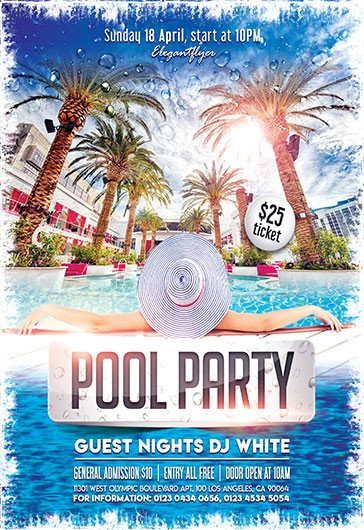 Pool Party Flyer Template Free Free Flyers Templates and Premium Flyers