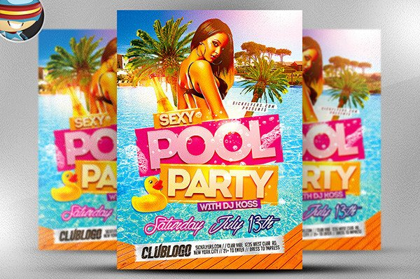 Pool Party Flyer Template Free Pool Party Flyer Template On Behance