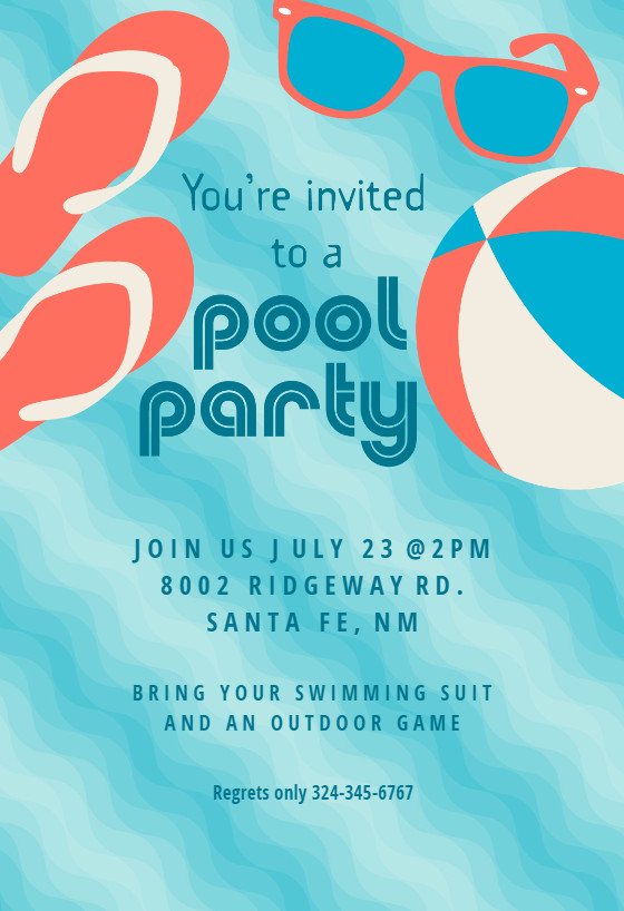 Pool Party Flyer Template Free Pool Party Stuff Pool Party Invitation Template Free