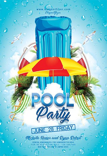 Pool Party Flyer Template Free Pool Party V04 – Flyer Psd Template – by Elegantflyer