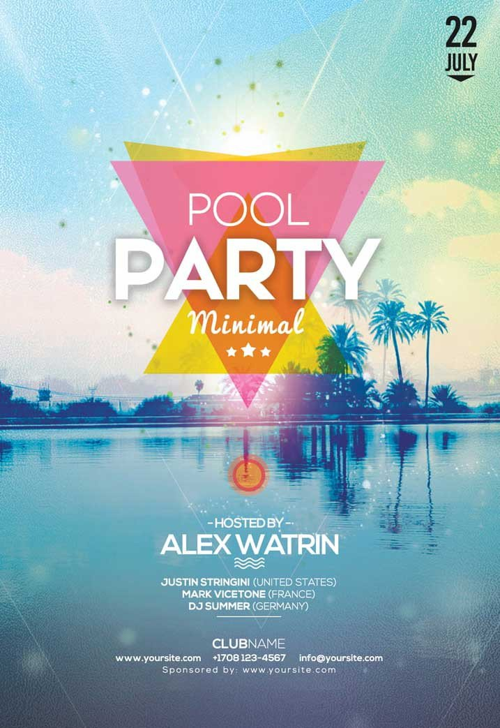 Pool Party Flyer Template Free Summer Pool Party Free Flyer Template