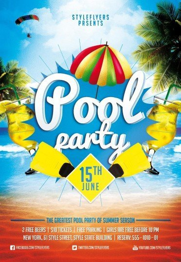 Pool Party Flyer Template Pool Party Psd Flyer Template 8226 Styleflyers