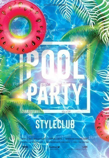 Pool Party Flyer Template Pool Party Psd Flyer Template Styleflyers
