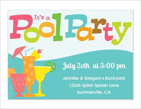 Pool Party Invitation Template 12 Sample Best Pool Party Invitations Word Psd Ai