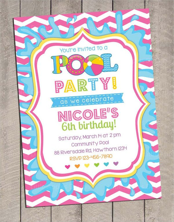 Pool Party Invitation Template 33 Printable Pool Party Invitations Psd Ai Eps Word