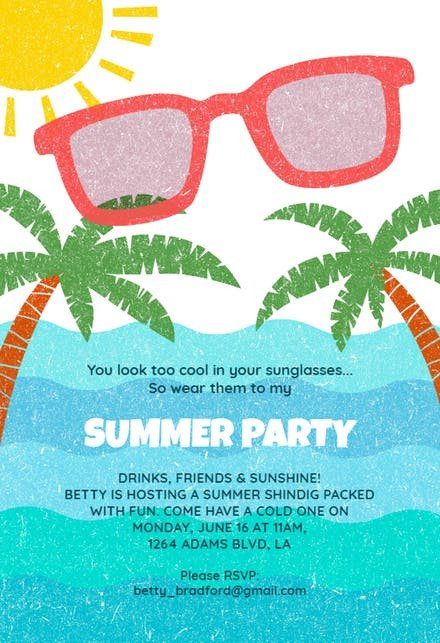 Pool Party Invitation Template Pool Party Invitation Templates Free