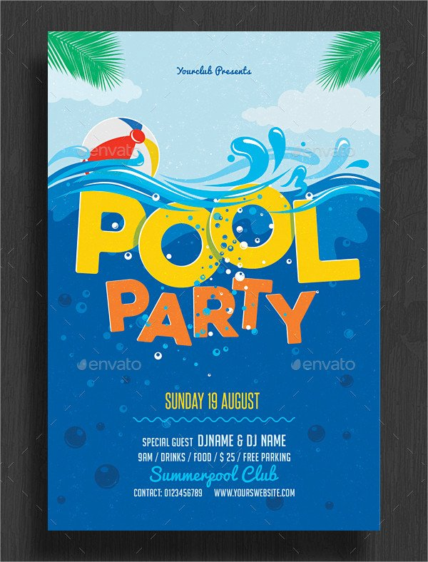 Pool Party Invitation Templates 33 Printable Pool Party Invitations Psd Ai Eps Word