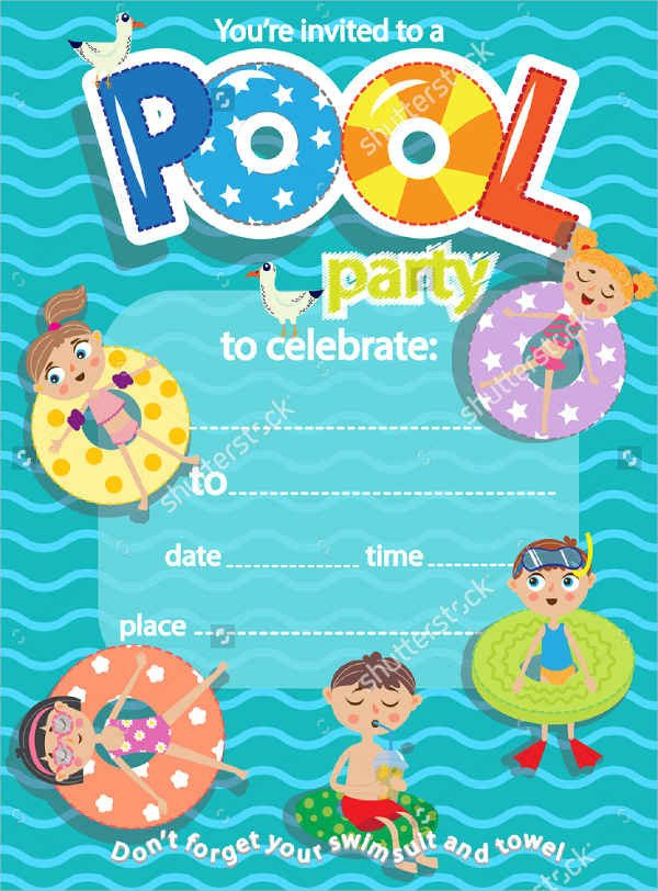 Pool Party Invitation Templates 51 Invitation Flyer Design Templates Psd Ai