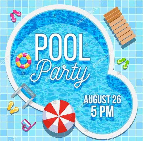 Pool Party Invitation Templates 7 Blank Party Invitations Free Editable Psd Ai Vector