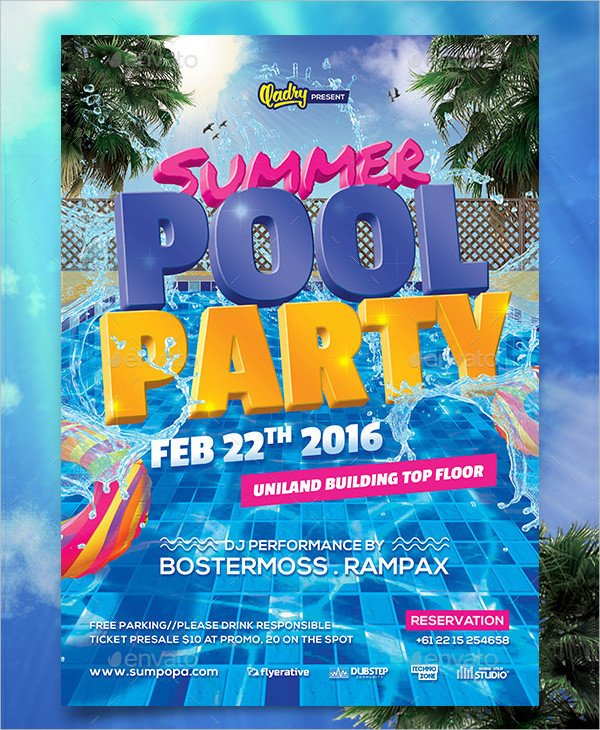 Pool Party Invitations Template 33 Printable Pool Party Invitations Psd Ai Eps Word