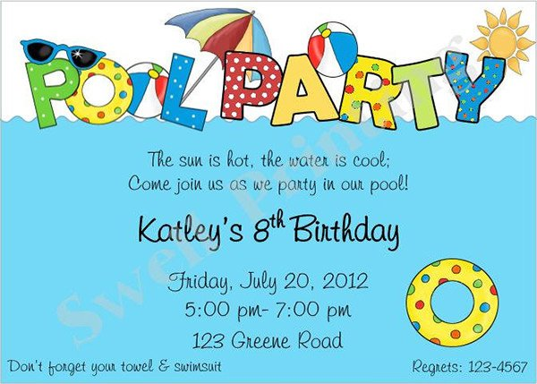 Pool Party Invitations Template 36 Pool Party Invitation Templates Psd Ai Word