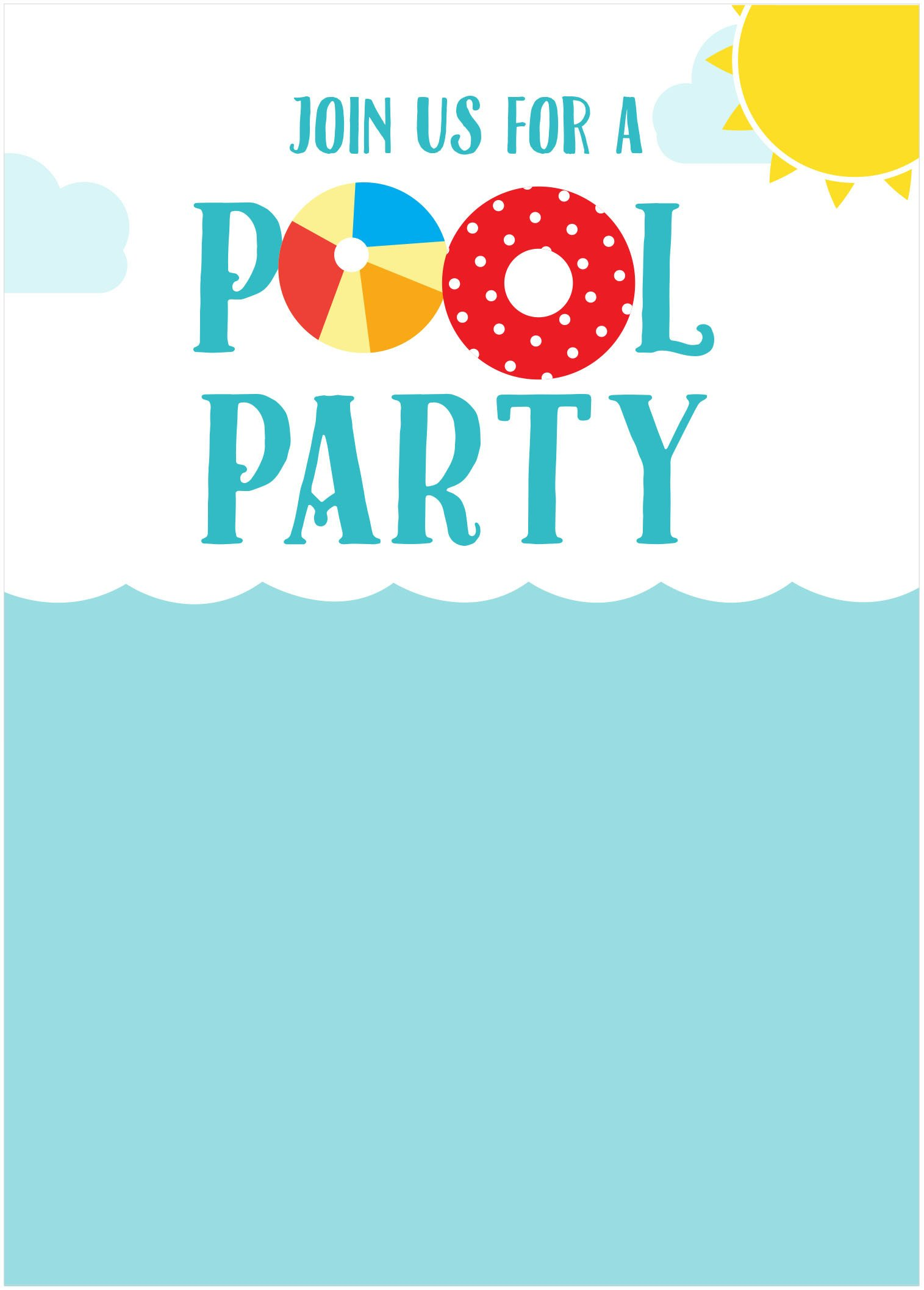 Pool Party Invitations Template 45 Pool Party Invitations
