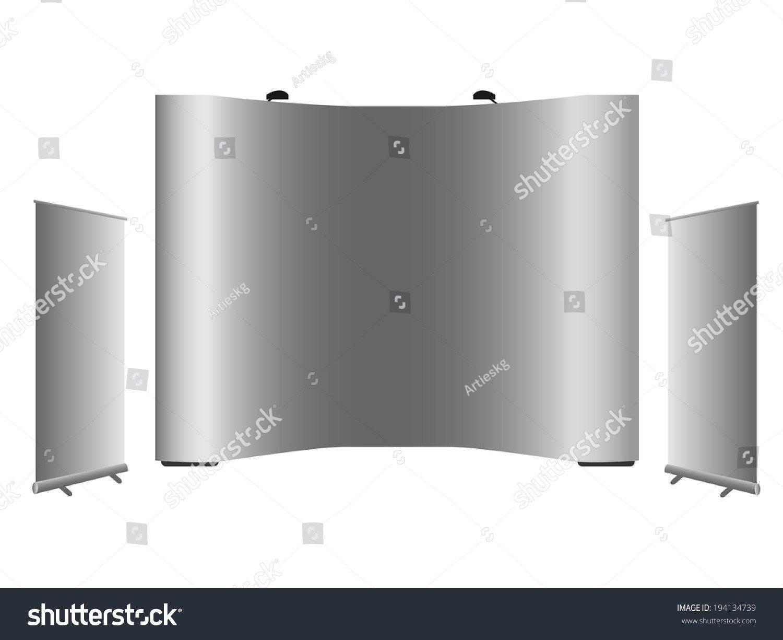 Pop Display Template Blank Rollup Banner Popup Banner Display Stock Vector