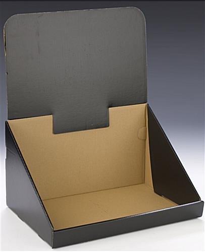 Pop Display Template Corrugated Countertop Bin Black