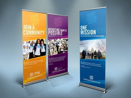 Pop Up Banner Designs Banner Design for Fight Colorectal Cancer organization