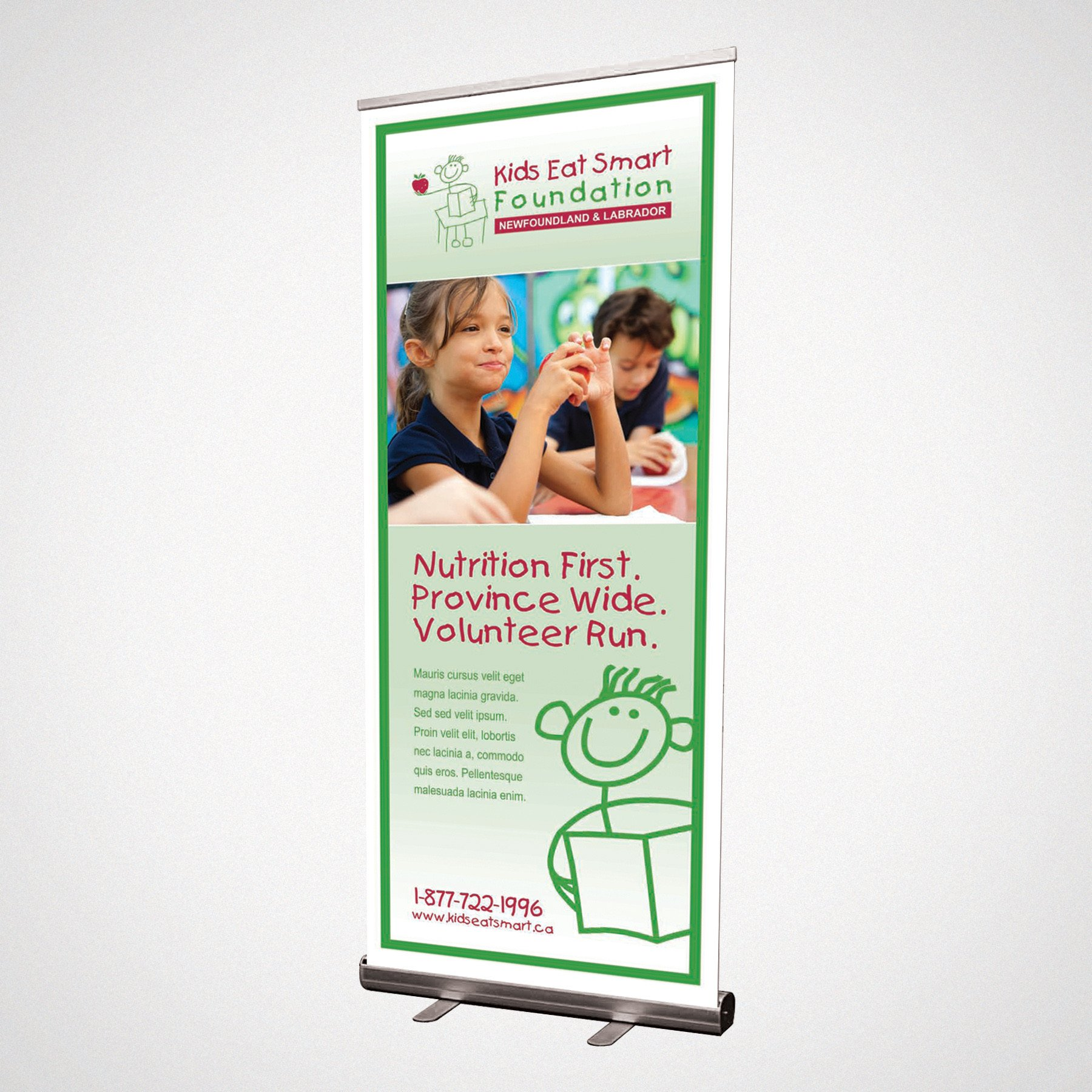 Pop Up Banner Designs Kids Eat Smart Pop Up Banner Design Troy Templeman Design