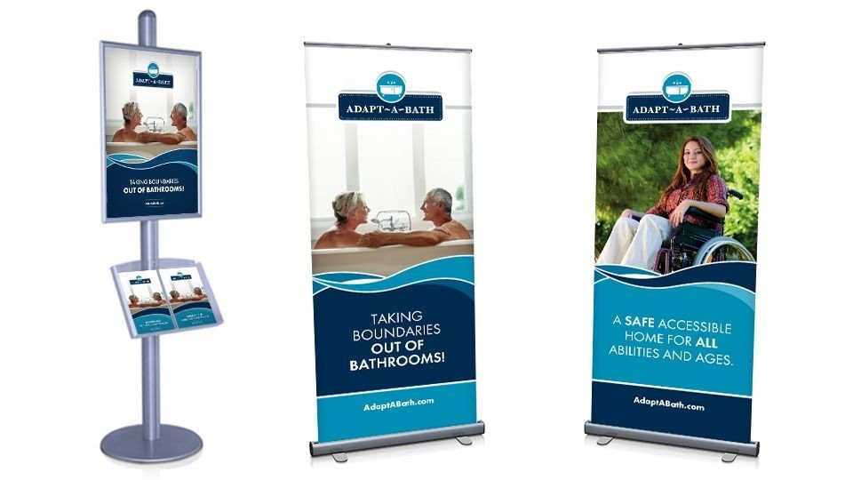 Pop Up Banner Designs Pop Up Banner & Info Board Display Design for Client Adapt