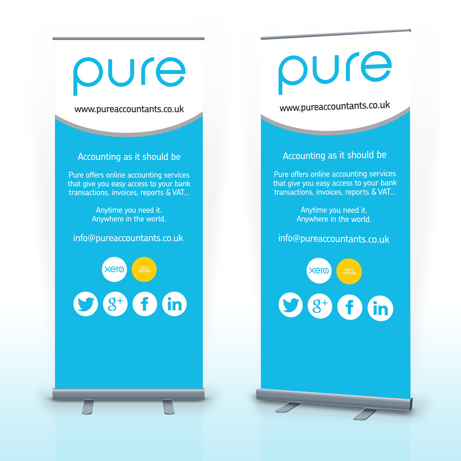 Pop Up Banner Designs Pop Up Banner Woodbridge Pure Accountants Keakreative