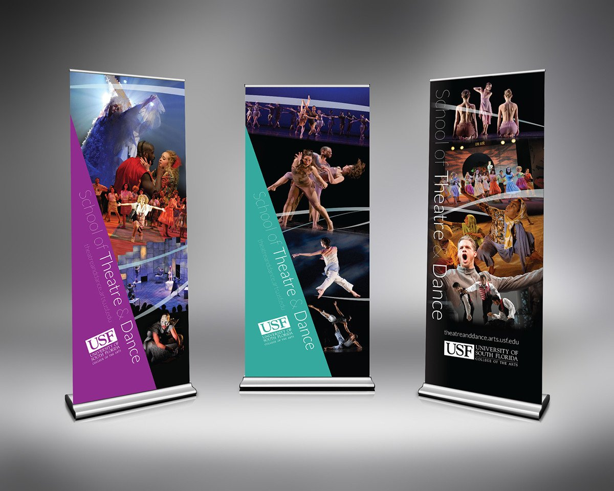Pop Up Banner Designs Usf School Of theatre & Dance Pop Up Banner Designs On Behance