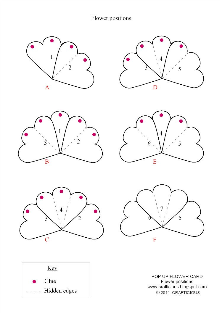 Pop Up Card Templates Free Crafticious Pop Up Card Valentine Flowers