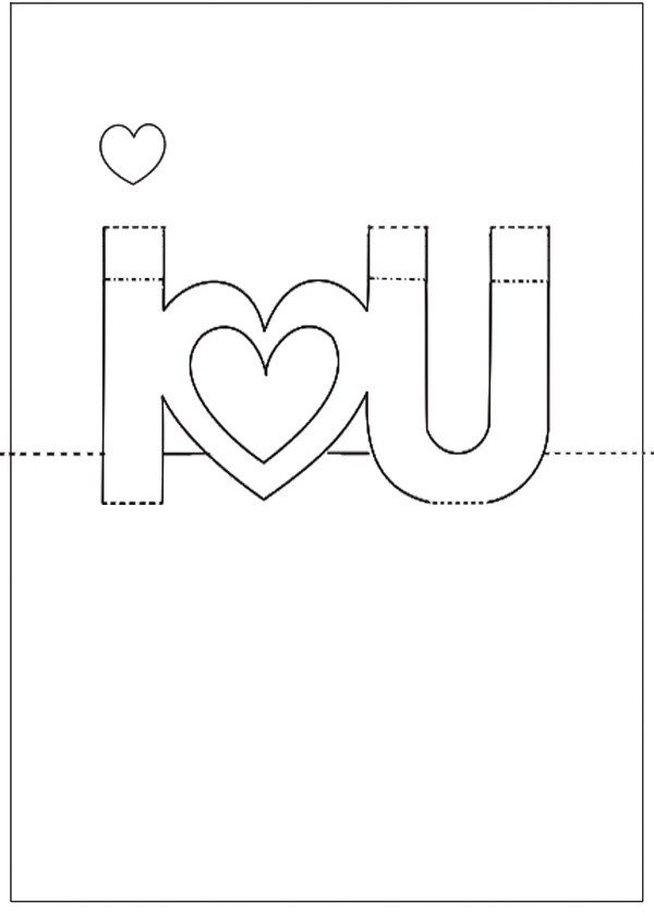Pop Up Card Templates Free Diy Template for Valentine S Day Pop Up Card