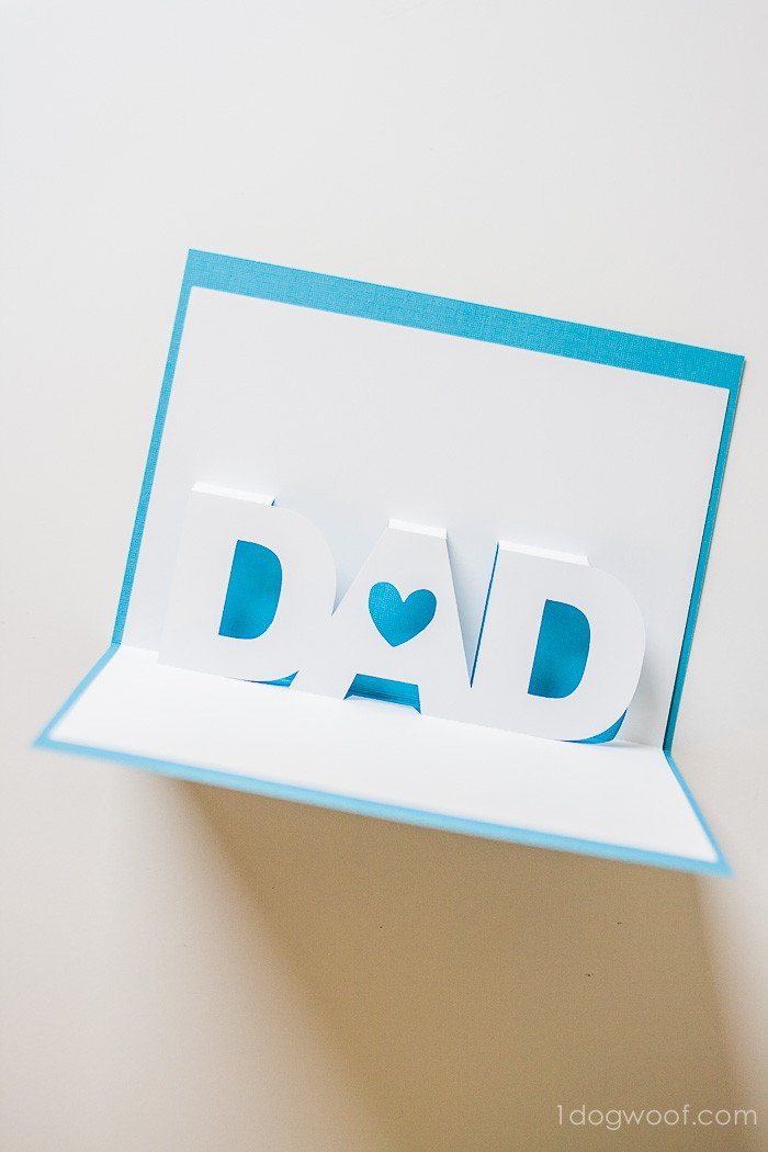 Pop Up Cards Templates Father S Day Pop Up Card with Free Silhouette Templates