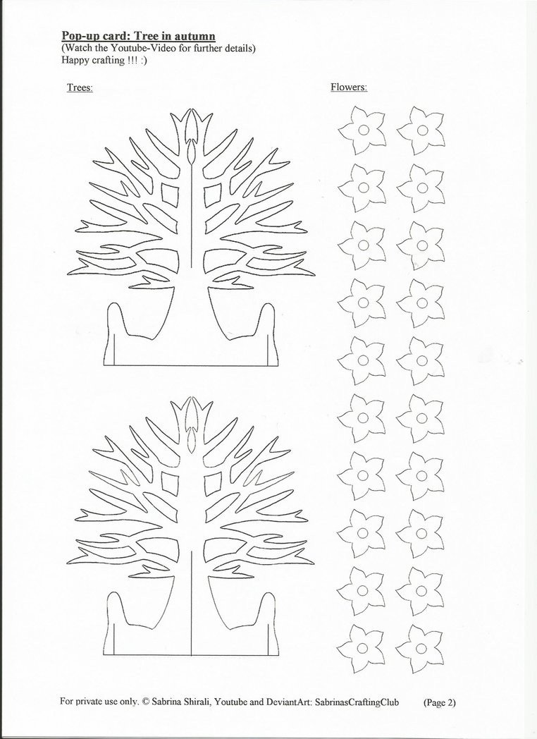 Pop Up Cards Templates Pop Up Card Tree Page 2 by Sabrinascraftingclub On Deviantart