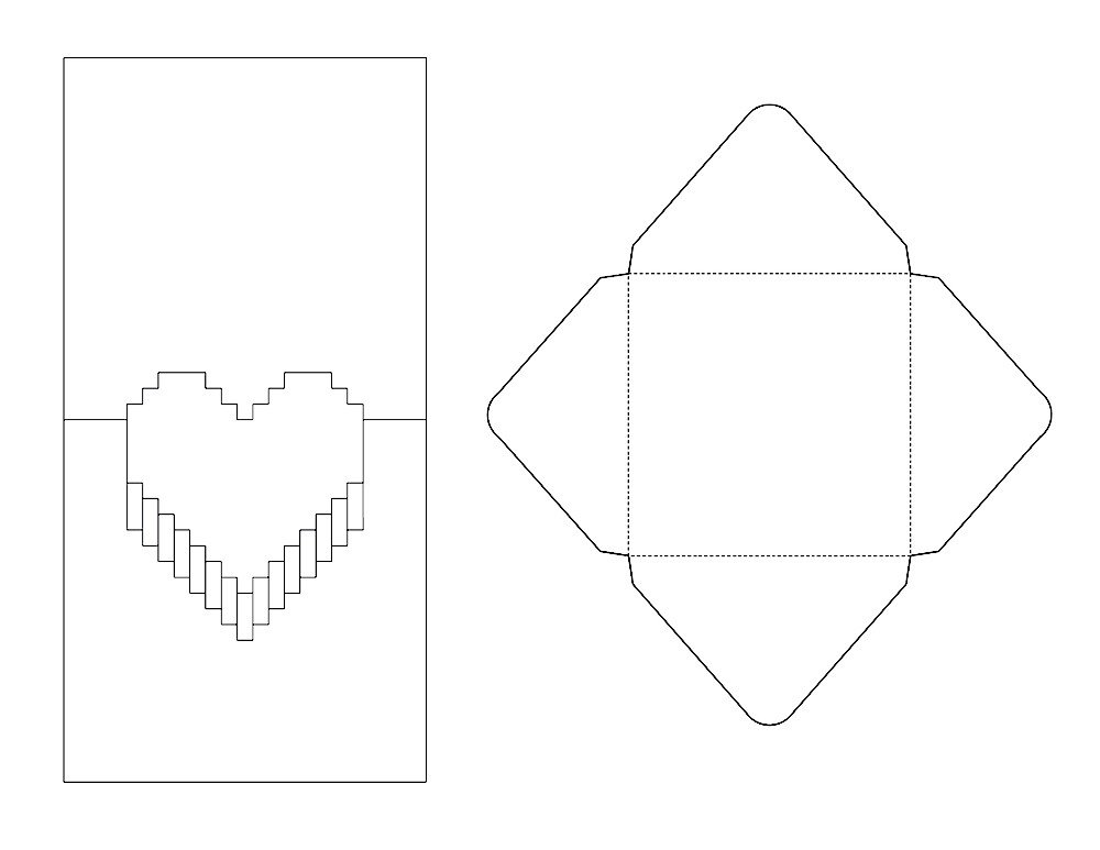 Pop Up Cards Templates Pop Up Valentine