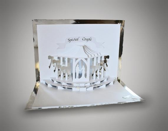 Pop Up Cards Templates Wedding Celebration Pop Up Card Template