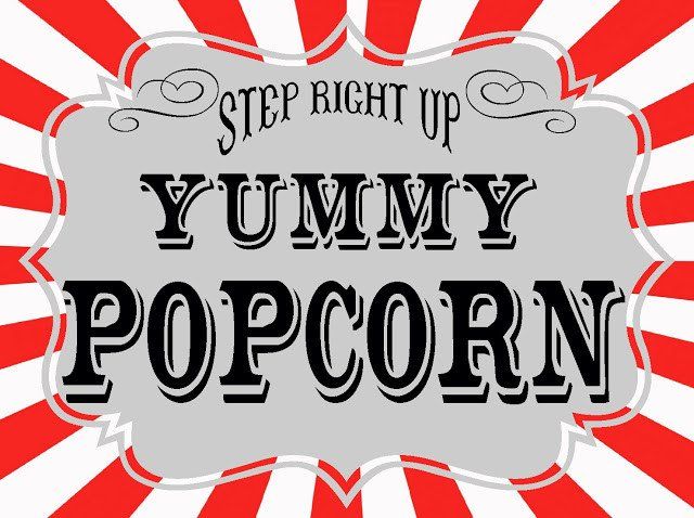 Popcorn Sign Printable Carnival Printables Revisited the Red Balloon