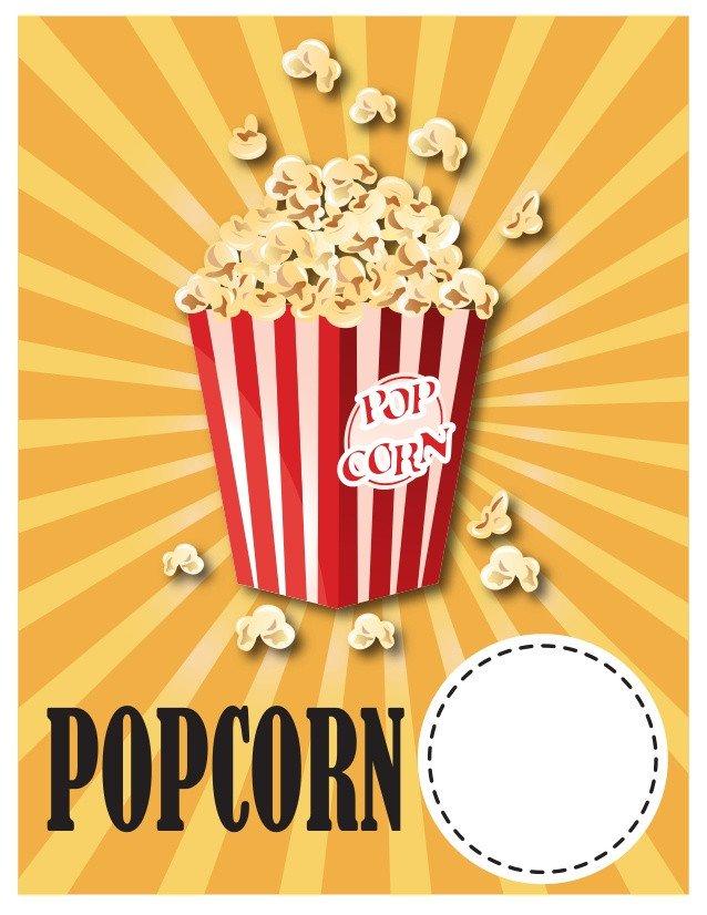 Popcorn Sign Printable Elementary School Spring Carnival Sign Ideas & Printables
