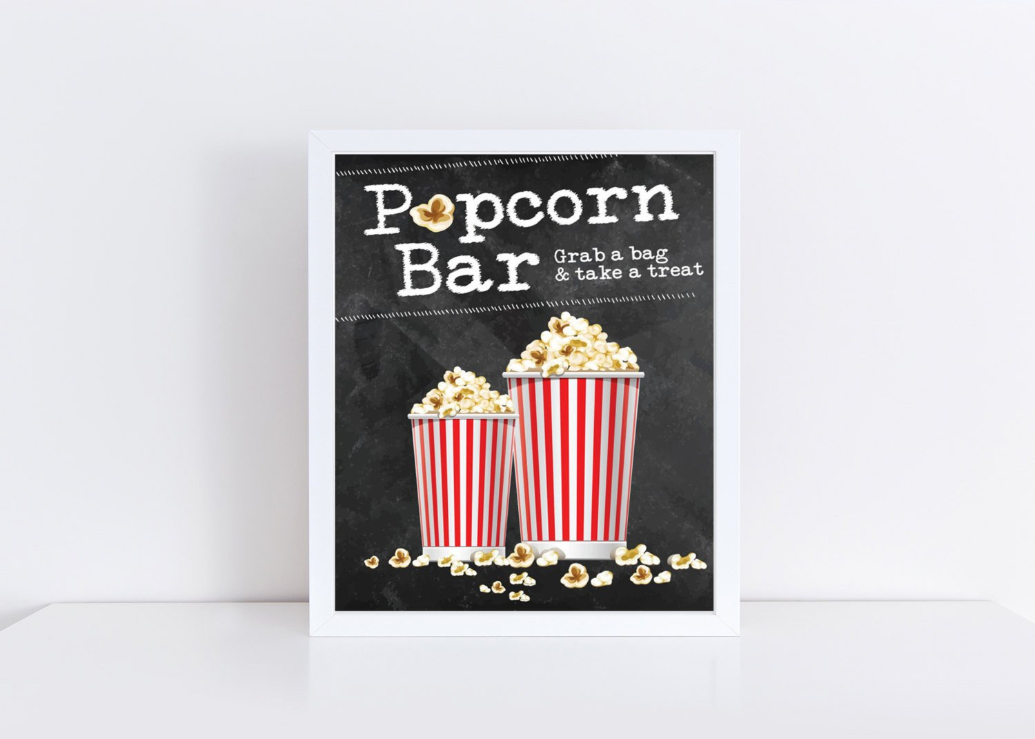 Popcorn Sign Printable Popcorn Bar Sign Popcorn Buffet Sign Wedding Popcorn