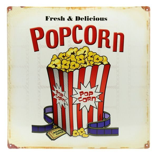 Popcorn Sign Printable Popcorn Metal Sign