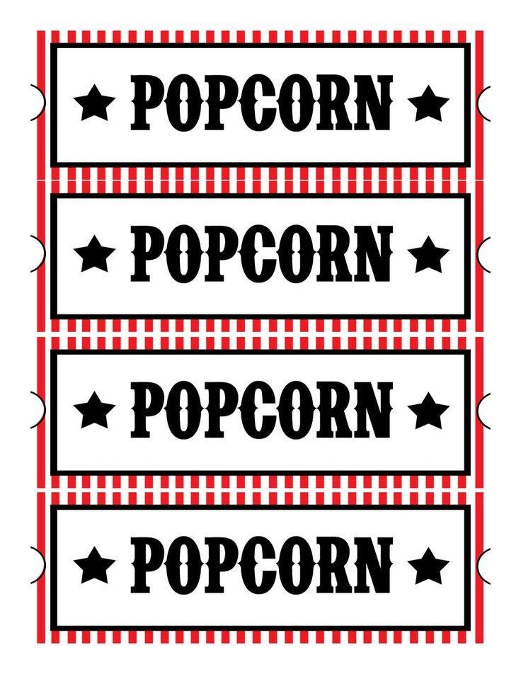 Popcorn Sign Printable Popcorn Sign Printable